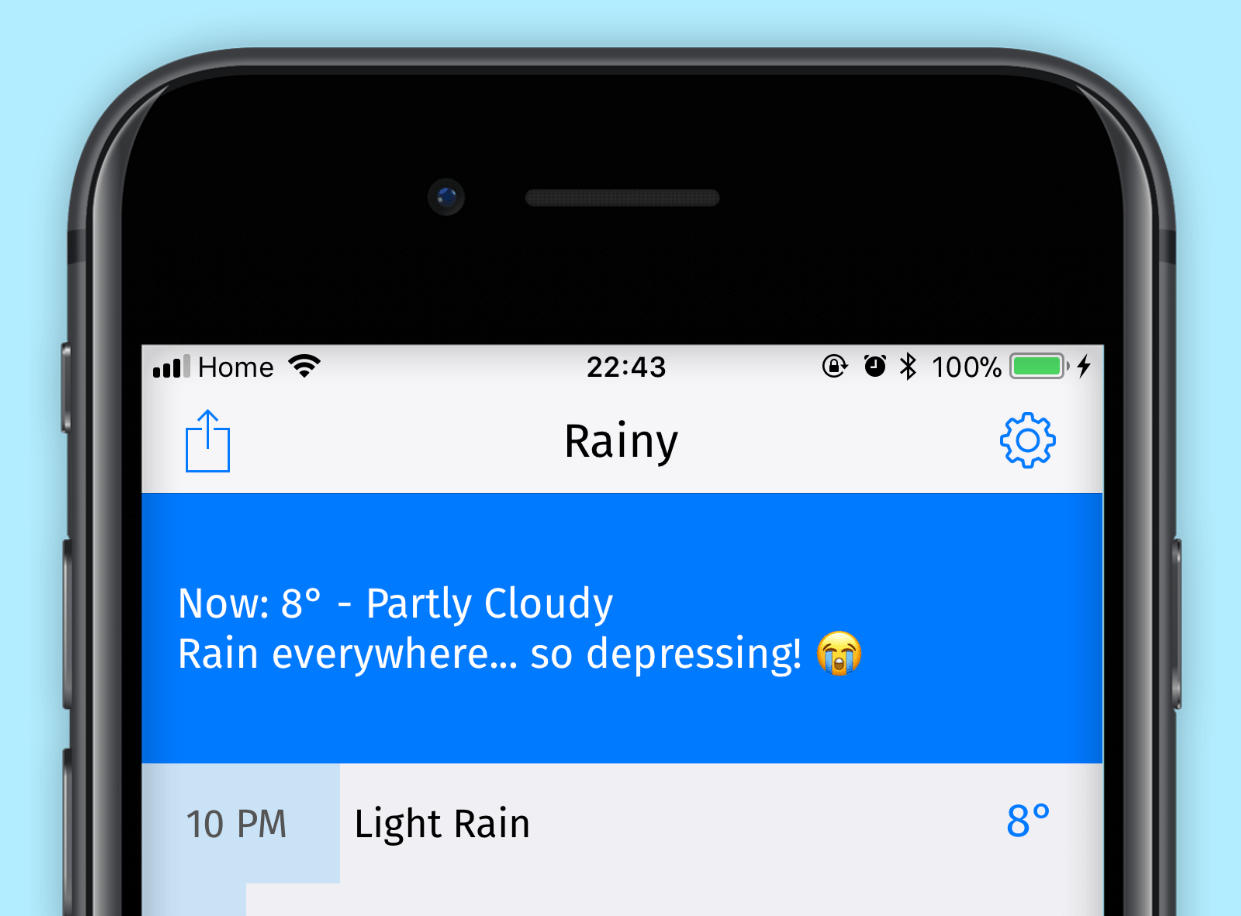 Screenshot of Rainy